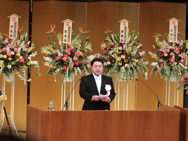和田学校長式辞