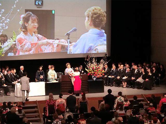 山野美容専門学校卒業式